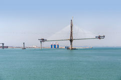 Construction of La Pepa Bridge in Cadiz Stock Images
