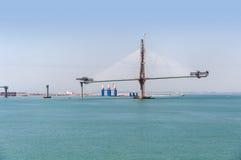Construction of La Pepa Bridge in Cadiz Stock Images