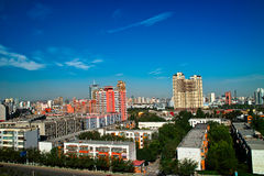 Construction à la ville d'Urumqi Photo libre de droits