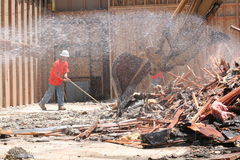 Free Construction Laborer Sweeping Stock Photography - 5996602