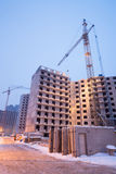 Construction of large apartment houses Royalty Free Stock Photos