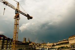 Construction in Lausanne Royalty Free Stock Photos