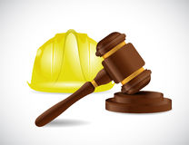 Construction law illustration design Stock Photography