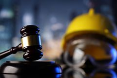 Construction law. Stock Photography