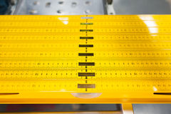 Construction level ruler display on tools store Stock Photography