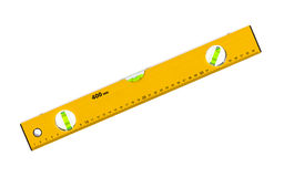 Construction level ruler Stock Photo