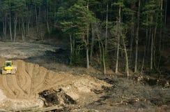 Construction leveled mound Royalty Free Stock Images