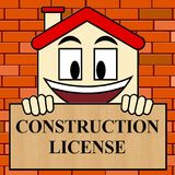 Construction License Shows Building Qualification 3d Illustratio. Construction License Showing Building Qualification 3d Illustration Royalty Free Stock Photos