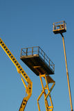 Construction lift. Construction platform on the blue sky Stock Images