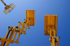 Construction lift platforms Royalty Free Stock Photos