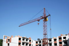 Construction. Lifting crane Stock Photo