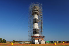Construction lighthouse Royalty Free Stock Photography
