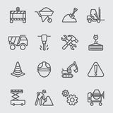 Construction line icon Royalty Free Stock Photo