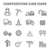 Construction line icons Royalty Free Stock Photography