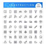 Construction Line Icons Set. Set of 56 construction line icons suitable for web, infographics and apps. Isolated on white background. Clipping paths included royalty free illustration