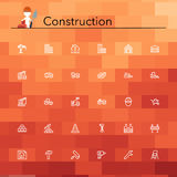 Construction Line Icons Stock Image