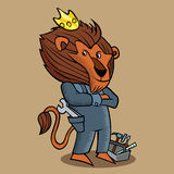 Construction lion Vector Illustration Royalty Free Stock Photography