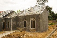 Construction of a little house photo taken in Bogor Indonesia Royalty Free Stock Image