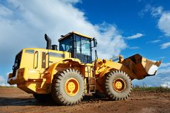 Construction loader excavator Stock Photos
