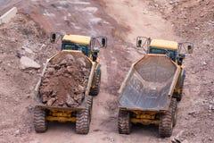 Free Construction Loading Rocks Trucks Royalty Free Stock Image - 102298226
