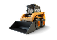 Construction loading vehicle. Small construction front loading vehicle Royalty Free Stock Photo
