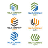 Construction logo collection royalty free stock photography
