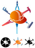 Construction logo. Isolated illustrated construction logo design Royalty Free Stock Photos