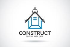 Construction Logo Template Design Vector, emblème, concept de construction, symbole créatif, icône illustration stock