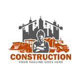 Construction logo template, suitable for construction company brand, vector format and easy to edit. Construction logo template, suitable for construction vector illustration