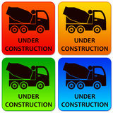 Construction logos. Colorful logos for construction works Royalty Free Stock Image