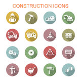 Construction long shadow icons Royalty Free Stock Images