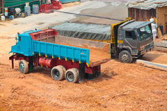 Construction lorry on site Royalty Free Stock Photography