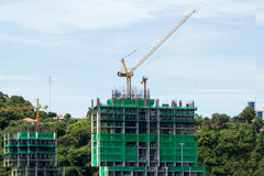 Construction. Is lot happening in Pattaya City Royalty Free Stock Images