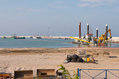 Construction of LPG terminal in Swinoujscie Stock Image