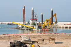 Construction of LPG terminal in Swinoujscie Royalty Free Stock Images