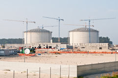 Construction of LPG terminal in Swinoujscie Royalty Free Stock Photography
