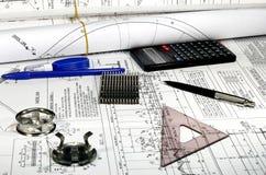 Construction mécanique Photo stock