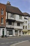 Construction médiévale, Tewkesbury image libre de droits