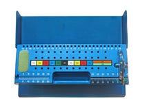 Construction métallique bleue d'isolement, Photographie stock