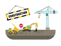 Construction machinary design. Royalty Free Stock Photography