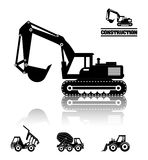 Construction machinary design. Royalty Free Stock Images