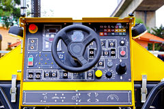Construction machine control Stock Image