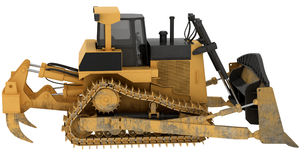 Construction machine isolated Royalty Free Stock Photos