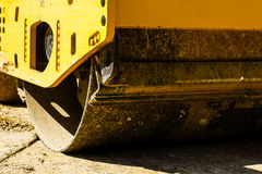 Construction machine road roller Stock Image