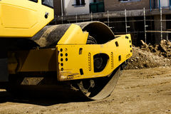 Construction machine road roller Stock Images