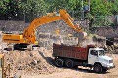 Construction machinery stock photo