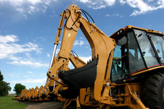 Construction machinery. Assembly of heavy construction machinery Royalty Free Stock Photos