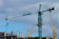 Construction machinery in building Royalty Free Stock Photos