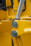 Construction machinery. Detailed view of heavy vehicle, of the building dozer or other construction machinery Stock Photography
