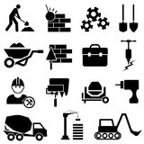 Construction and machinery icons. Construction and heavy machinery icon set Stock Photography